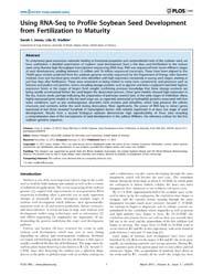 Plos One : Using Rna-seq to Profile Soyb... by Pellegrini, Matteo