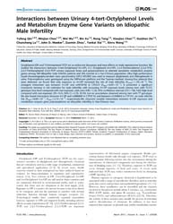 Plos One : Interactions Between Urinary ... by Ward, Steven, W.