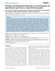 Plos One : Changes of Soil Bacterial Div... by Ibekwe, Mark, A.