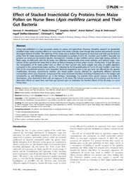 Plos One : Effect of Stacked Insecticida... by Bourtzis, Kostas