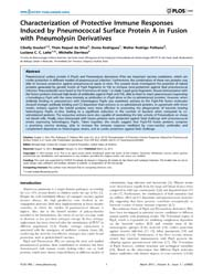 Plos One : Characterization of Protectiv... by Beall, Bernard