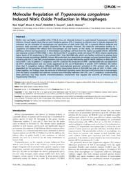 Plos One : Molecular Regulation of Trypa... by Bobé, Pierre
