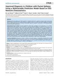 Plos One : Improved Diagnosis in Childre... by Maurits, M. Natasha