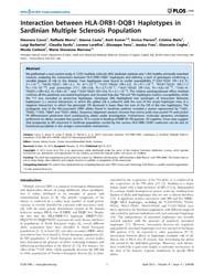 Plos One : Interaction Between Hla-drb1-... by Carmen, Infante-duarte