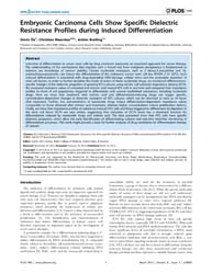 Plos One : Embryonic Carcinoma Cells Sho... by Cooney, John, Austin