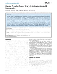 Plos One : Human Protein Cluster Analysi... by Massiah, Michael
