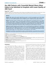 Plos One : Are Ami Patients with Comorbi... by Biondi-zoccai, Giuseppe