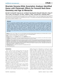 Plos One : Bivariate Genome-wide Associa... by Yi-hsiang Hsu