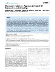 Plos One : Pharmacometabolomic Approach ... by Karakousis,c. Petros