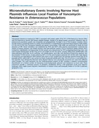Plos One : Microevolutionary Events Invo... by Rohde, Holger