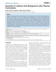Plos One : Assembly of a Marine Viral Me... by Rodriguez-valera, Francisco