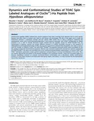 Plos One : Dynamics and Conformational S... by Raaij, J. Van, Mark