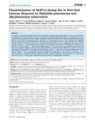 Plos One : Characterization of Nlrp12 Du... by Jeyaseelan, Samitham