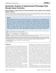 Plos One : Systematic Analysis of Experi... by Torkamani, Ali
