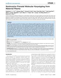 Plos One : Noninvasive Prenatal Molecula... by Shomron, Noam