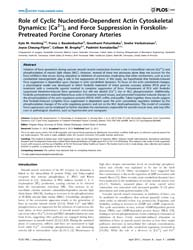 Plos One : Role of Cyclic Nucleotide-dep... by Wang, Yingxiao