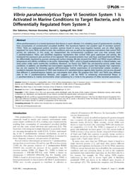 Plos One : Vibrio Parahaemolyticus Type ... by Roop, Roy, Martin