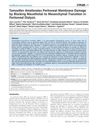 Plos One : Tamoxifen Ameliorates Periton... by Sen, Utpal