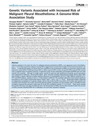 Plos One : Genetic Variants Associated w... by Miao, Xiao-ping