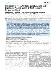 Plos One : Interaction Between Oxytocin ... by Uddin, Monica