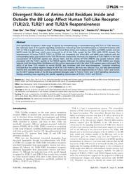 Plos One : Divergent Roles of Amino Acid... by Alexopoulou, Lena