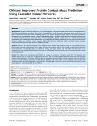 Plos One : Cnncon ; Improved Protein Con... by Xue, Bin