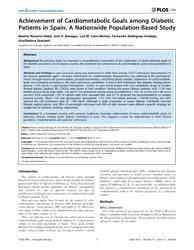 Plos One : Achievement of Cardiometaboli... by Manzoli, Lamberto