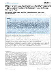 Plos One : Efficacy of Influenza Vaccina... by Thomas, Paul, G.