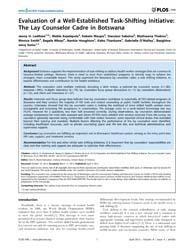 Plos One : Evaluation of a Well-establis... by Wools-kaloustian, Kara K.