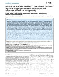 Plos One : Genetic Variants and Increase... by Kaltenboeck, Bernhard