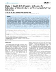 Plos One : Study of Double-side Ultrason... by Hong, Jeongmin