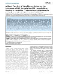 Plos One : Novel Function of Novobiocin ... by Han, Zhaozhong