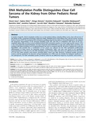 Plos One : Dna Methylation Profile Disti... by Tao, Qian