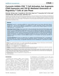 Plos One : Curcumin Inhibits Cd4+ T Cell... by Bereswill, Stefan