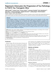 Plos One : Rapamycin Attenuates the Prog... by Feany, Mel B.