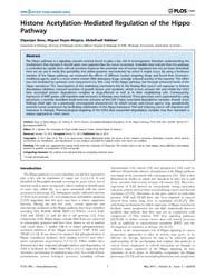 Plos One : Histone Acetylation-mediated ... by Marian, Ali J.