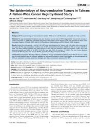 Plos One : the Epidemiology of Neuroendo... by Gorlova, Olga Y.