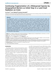 Plos One : Continuing Fragmentation of a... by Etges, William J.