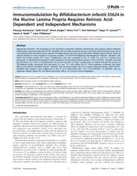 Plos One : Immunomodulation by Bifidobac... by Bereswill, Stefan