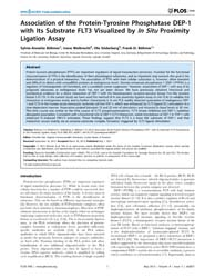 Plos One : Association of the Protein-ty... by Das, Anindita