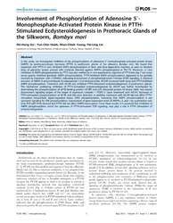 Plos One : Involvement of Phosphorylatio... by Hansen, Immo, A.