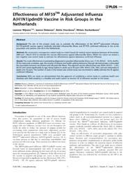 Plos One : Effectiveness of Mf59Tm Adjuv... by Cowling, Benjamin, J.
