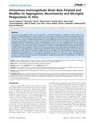 Plos One : Intravenous Immunglobulin Bin... by Block, Michelle, L.