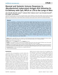 Plos One : Mucosal and Systemic Immune R... by Tyagi, Anil, Kumar