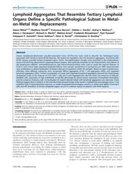 Plos One : Lymphoid Aggregates That Rese... by Matloubian, Mehrdad