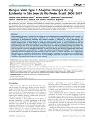 Plos One : Dengue Virus Type 3 Adaptive ... by Kapoor, Amit