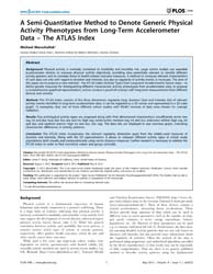 Plos One : a Semi-quantitative Method to... by Brody, James, P.
