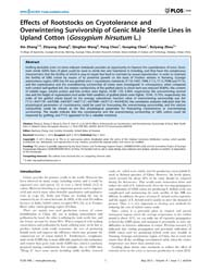 Plos One : Effects of Rootstocks on Cryo... by Zhang, Baohong