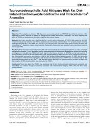 Plos One : Tauroursodeoxycholic Acid Mit... by Vavvas, Demetrios
