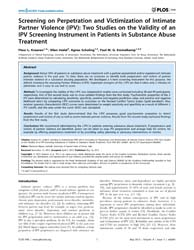 Plos One : Screening on Perpetration and... by Mazza, Marianna